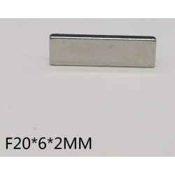 Iman de neodimio 20x6x2 mm